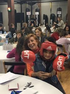 marta y niña boxeadora