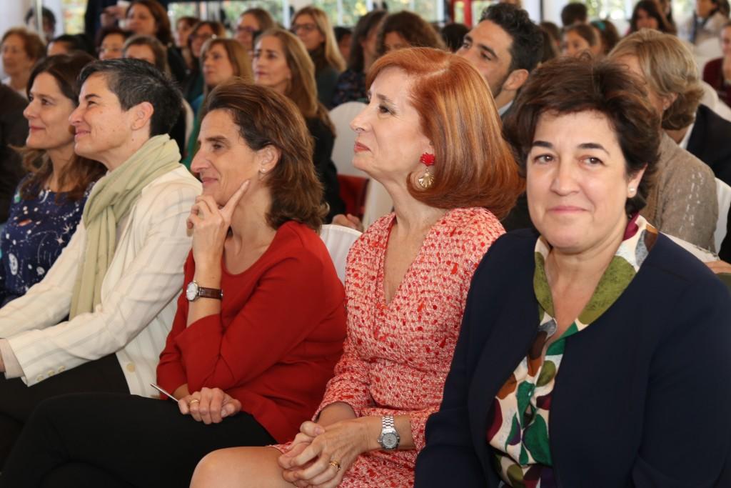 Teresa Ribera, Marta Pérez y Elena Pisonero