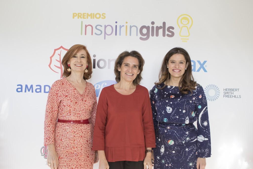 Marta Pérez, Teresa Ribera y Miriam González