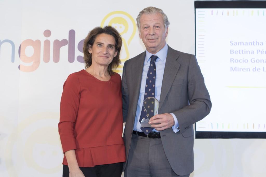 Teresa Ribera y Joaquin Mollinedo