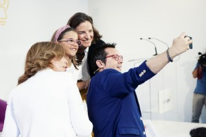 Selfie de Sergio, María, Valeria y Nathalie