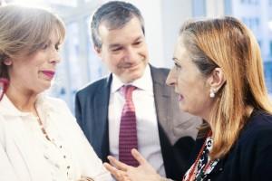 María Eizaguirre, Javier Solans y Ana Pastor